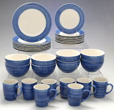 blue dinnerware sets. Plain Blue Color Strokes Blue By Jcpenney At Replacements Ltd And Dinnerware Sets I