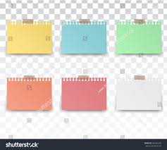 Colorfull White Stickers Square Blank Colorful Stock Vector