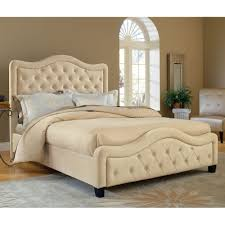Trieste Fabric Upholstered Bed in Buckwheat