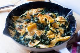skillet ravioli with spinach smitten