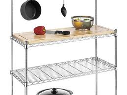 whitmor supreme kitchen bakers rack wood chrome review