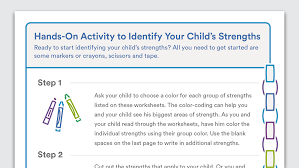 Printable Activity to Identify Your Child's Strengths