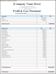 Free Profit And Loss Statement Template For Self Employed Simple