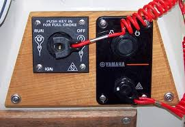 whaler reference installing a yamaha t kicker photo close up of the two ignition key switches ignition and kill switches