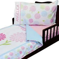 3pc fairy flowers personalized toddler bedding set blanket sheet and pillowcase set personalized roomcraft fairy flowers toddler size blanket 36 x 56