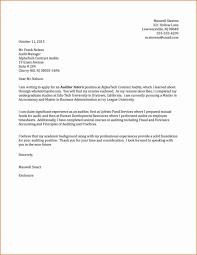 Internship Cover Letter Format 2018