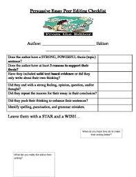 persuasive essay peer editing checklist by adrienne demarco tpt persuasive essay peer editing checklist