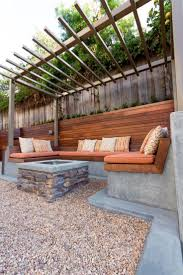 outdoor seating hgtv shows you a contemporary backyard seating area with  built-in benches IMZEBLN