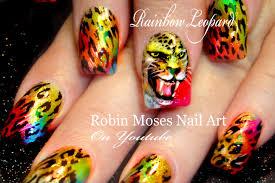 Rainbow Leopard Face Nails | Fierce Animal Print Nails Design ...