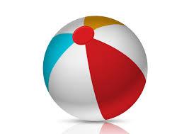 beach ball on beach. Colorful Beach Ball Free Vector On