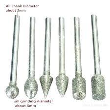 dremel glass cutting glass drill bit shank diamond grinding burr bits sets for rotary tools cutting