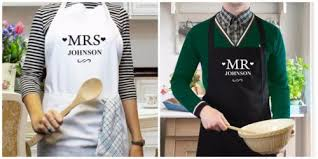 personalised name bride groom mrs mr a wedding as gifts cooking kitchen mother s day mum aunt