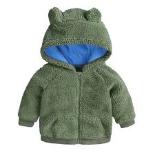 hot baby winter coat infant plus velvet thick cotton jacket high quality new boys girls hooded