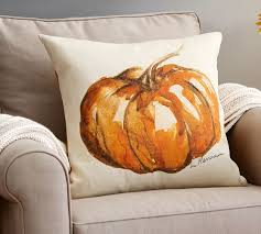 Painted Pumpkin Patch Pillow Cover