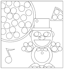 Fnaf Freddy Portrait Coloring Page Free Printable Pages
