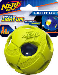 Light Up Ball Game Nerf Dog Light Up Led Bash Ball Dog Toy Green