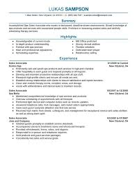 Sales Associate Resume Sample
