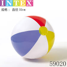 beach ball in ocean. INTEX Inflatable Ball Beach Children Early Education Swimming Water Polo Plastic Toys Color Ocean In