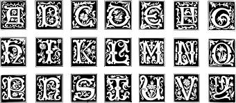 Decorative Letters Clipart Decorative Letter Set