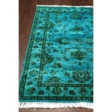 wool rug turquoise traditional light blue vintage inspired hand hooked rooster checd nuloom chunky cable 8x10