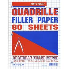 Graph Paper 4sq In 10 5x8 3 Hole 100 Pk Brand Top Flight