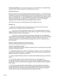 How To Make A One Page Resume One Page Resume Template Reverse Chronological Order