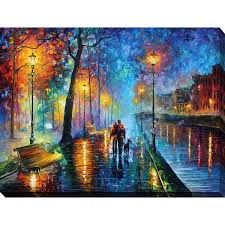 leonid afremov x27 melody of the night x27 giclee print canvas on canvas wall art overstock with shop leonid afremov melody of the night giclee print canvas wall