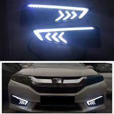 2pcs Led Drl Daytime Running Light For Honda City 2015 2018 Fog Lamp Cover Headlight 12v Daylight Car Styling