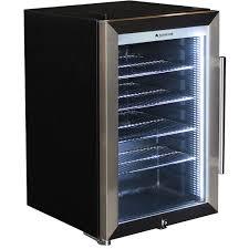 outdoor alfresco bar fridge triple glazed glass door and lock empty