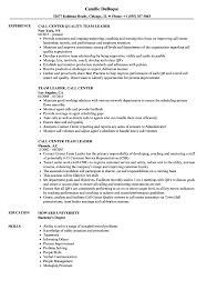 Call Center Resume Examples Stunning Call Center Team Leader Resume Samples Velvet Jobs