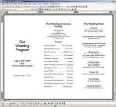 Free Printable Wedding Ceremony Programs Free Printable Wedding Programs Templates The Template Is Oriented