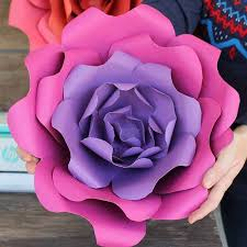 Diy Paper Flower Diy Paper Flowers Myprintly