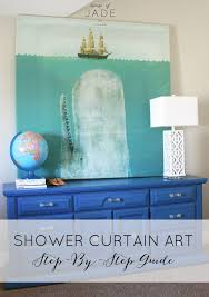 diy shower curtain ideas. diy shower curtain art3 diy ideas a