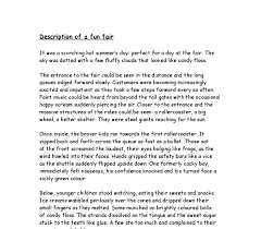 discriptive essay example page decriptive essay examples of a  descriptive essay description of a fun fair and guidelines on throughout descriptive essay example about