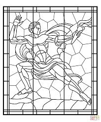Glas In Lood Van Paleis Veletrzni In Praag Kleurplaat Gratis