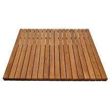 36 in x 48 in bathroom shower mat in natural teak