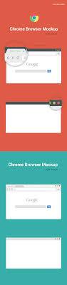 Browser Design Image Free Chrome Browser Mockup Design Template Vector On Behance