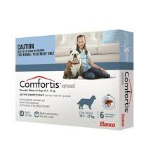 comfortis for dogs blue 40160lbs 6 pack comfortis dogs16
