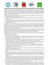 FABI Gruppo Intesa Sanpaolo - Siglato accordo sulla cessione dei rami di  azienda ISP e UBI a BPER