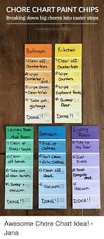 Wipe Off Chore Chart Chore Chart Paint Chips Breaking Down Big Chores Into Easier