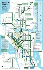 Seattle Transit Map Light Rail Seattle Frequent Transit Map Seattle Transit Blog