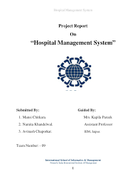 project hospital management system