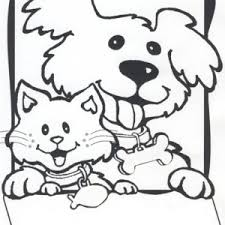 Small Picture Dog And Cat Coloring Pages Mini 24GIF Coloring Page mosatt