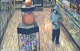 a captured this image of the suspect in a nov 1 robbery at mary