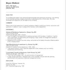 General Objectives For A Resume Objective For Resume Summary