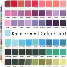 Kona Printed Color Chart By Studio Rk Shipping To Stores