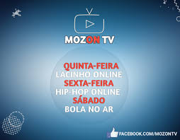 MozOn TV - Quinta-Feira:18H Lacinho Online Sexta-Feira:18H Hip-Hop Online  Sábado:18H Bola No AR Conecte-se a MozOn TV. Brevemente novas  programações🇲🇿❤!!! #Curte #Comente #Partilhe #mozontvatvdadiferença