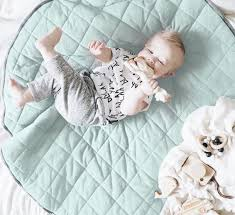 Mister Fly | Quilted Baby Play Mat | Seafoam & Charcoal | Milk Tooth & ... Baby playing on Seafoam Blue Green Quilted Playmat by Mister Fly ... Adamdwight.com
