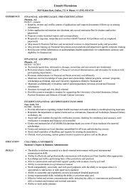Financial Aid Specialist Resume Samples Velvet Jobs
