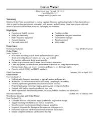 Packing Resume Sample Unique Pick Packer Resume Sample On Warehouse Picker Packer Duties 9